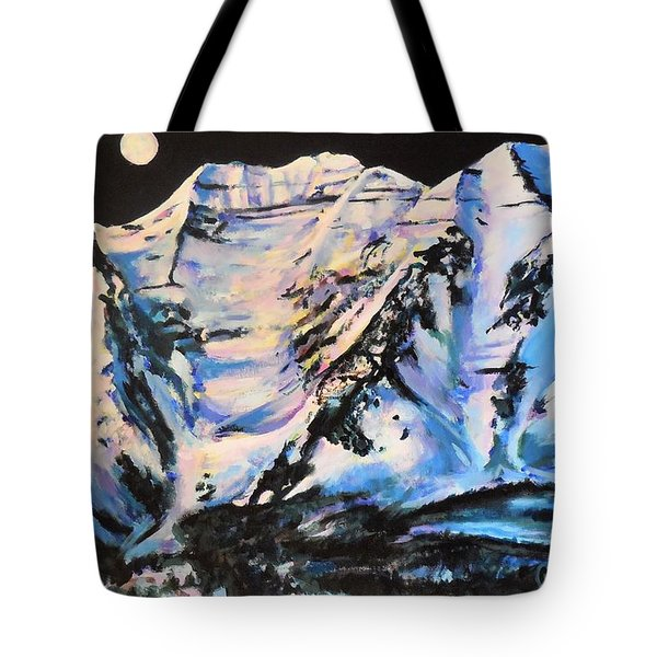 Mt. Timpanogos Under A Full Moon Tote Bag