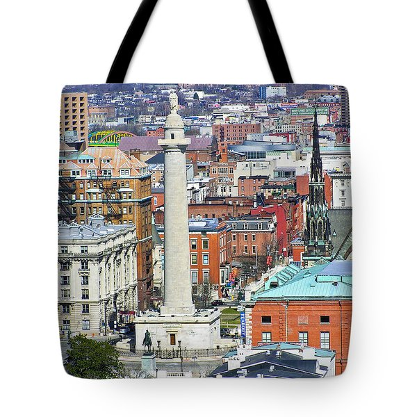 Mt Vernon - Baltimore Tote Bag by Brian Wallace
