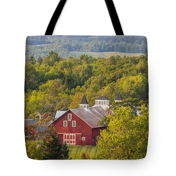 Mt View Farm In Summer Tote Bag