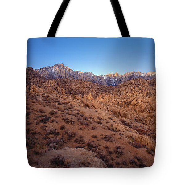 Mt. Whitney Dawning Light Tote Bag