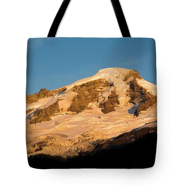 Mt.baker At Sunset  Tote Bag