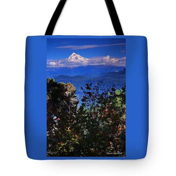 Mt.hood N Fall Tote Bag by Steve Warnstaff