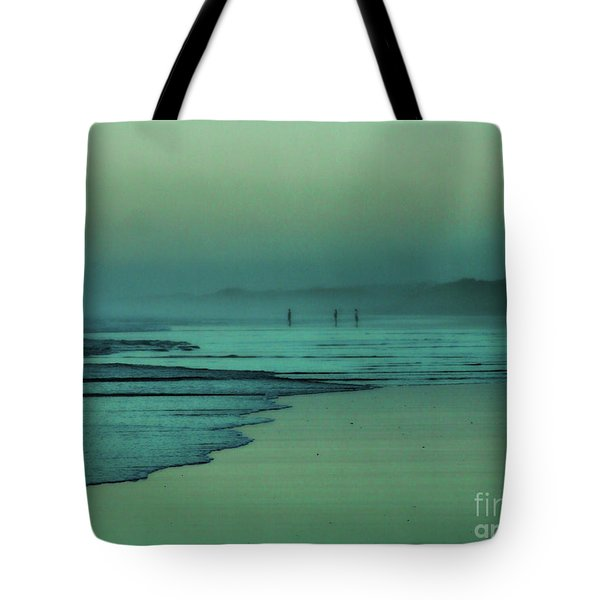 Muawai Sunset Tote Bag by Karen Lewis
