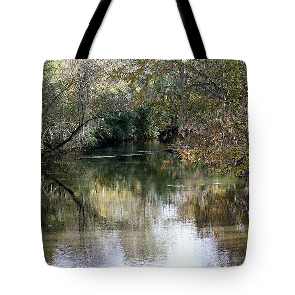 Tote Bag featuring the photograph Muckalee Creek by Jerry Battle
