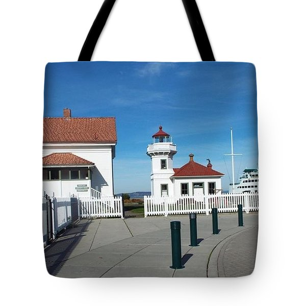 Tote Bag featuring the photograph Muckilteo Lighthouse by Judyann Matthews
