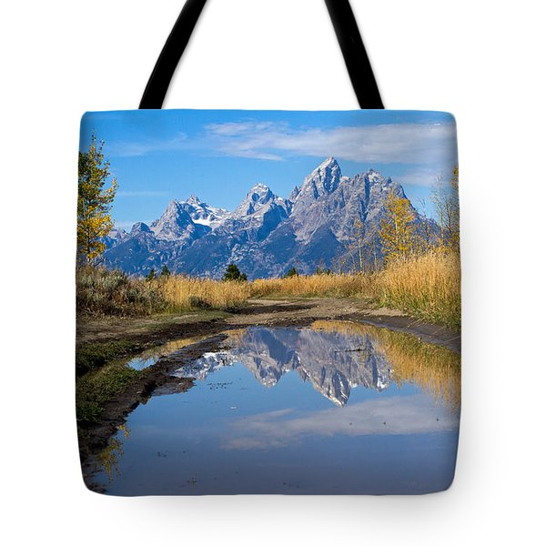 Mud Puddle Reflection Tote Bag