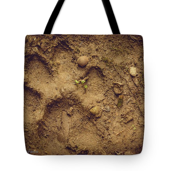 Muddy Pup Tote Bag by Stefanie Silva