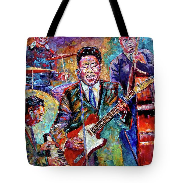 Muddy Waters And His Band Tote Bag by Debra Hurd