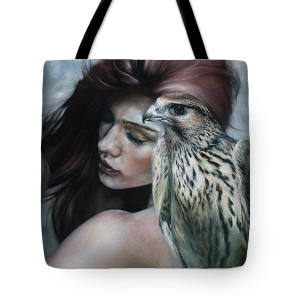 Tote Bag featuring the painting Mudra by Ragen Mendenhall