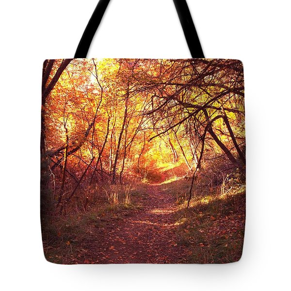 Mueller Park In The Fall Tote Bag