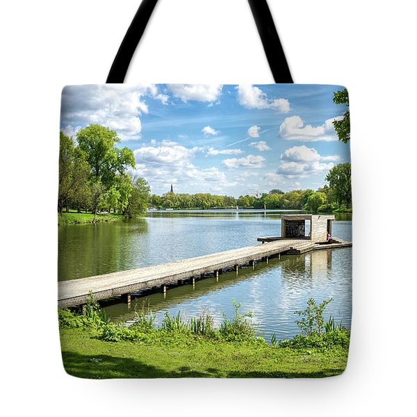 Muenster Aasee Panoramic View Tote Bag