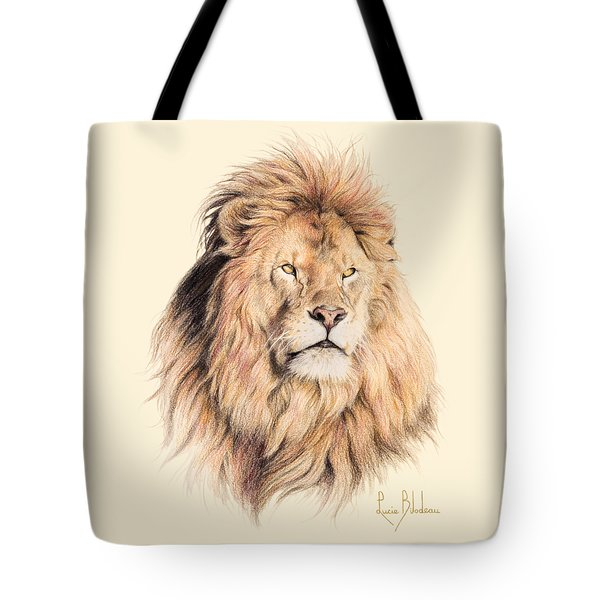 Mufasa Tote Bag by Lucie Bilodeau