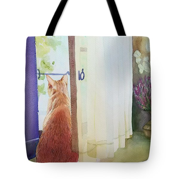 Muffin At Window Tote Bag