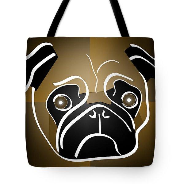 Mug Of A Pug Tote Bag by Stephen Younts