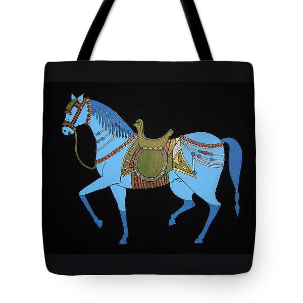 Mughal Horse Tote Bag