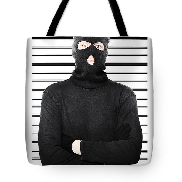 Mugshot Of A Busted Thief Tote Bag