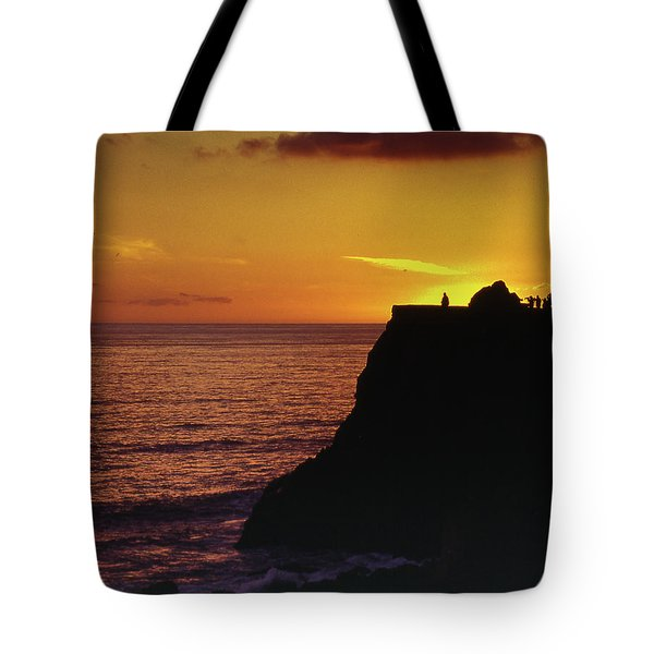 Tote Bag featuring the photograph Mugu Rock Sunset by Samuel M Purvis III