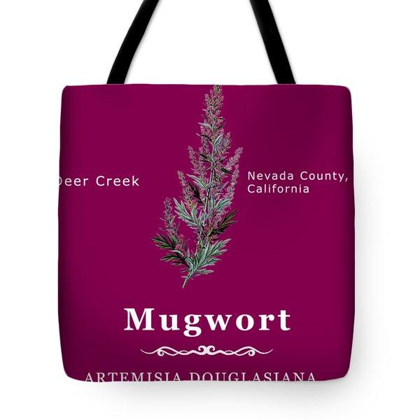 Mugwort - White Text Tote Bag