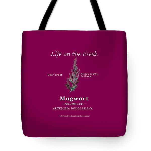 Mugwort - White Text Tote Bag