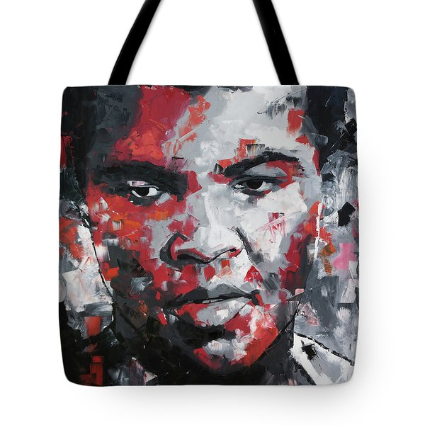 Tote Bag featuring the painting Muhammad Ali II by Richard Day