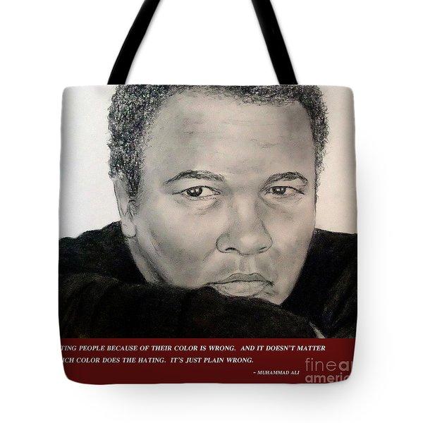 Muhammad Ali On Hating  Tote Bag