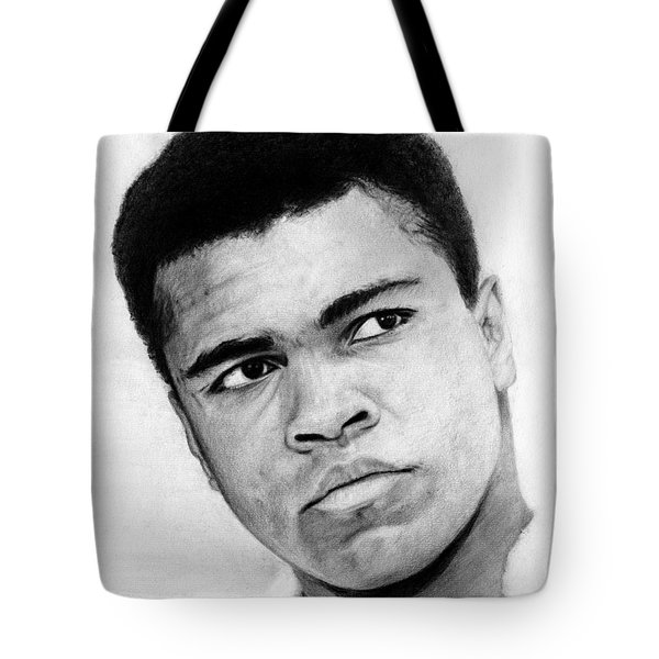 Muhammad Ali Pencil Drawing Tote Bag