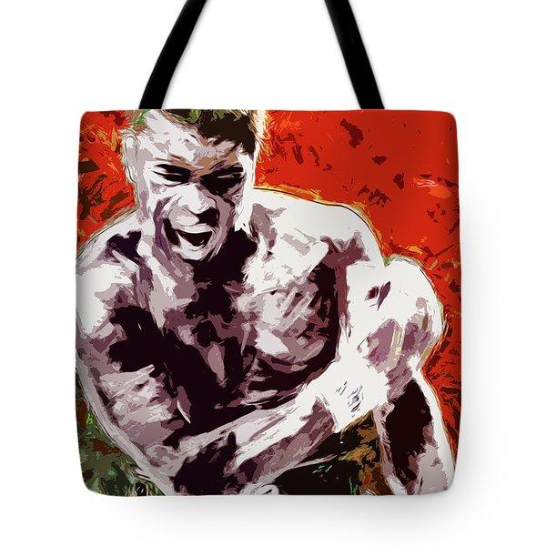 Muhammed Ali Boxing Champ Digital Paintng Tote Bag