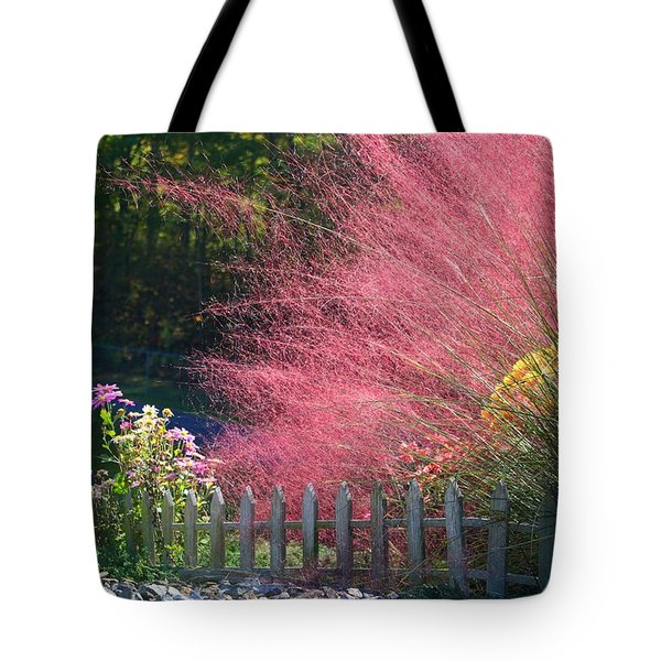 Tote Bag featuring the photograph Muhly Grass by Kathryn Meyer