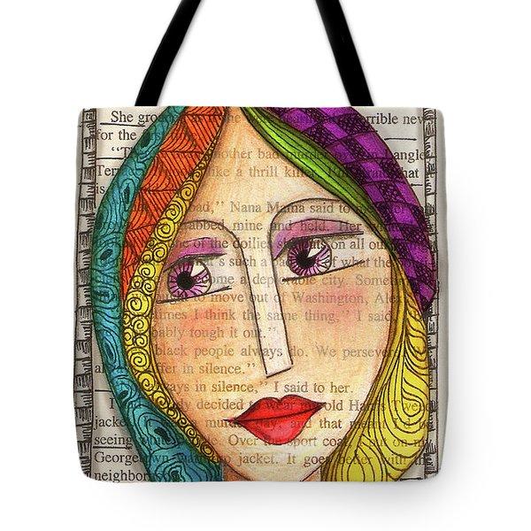 Mujer Tote Bag by Delein Padilla