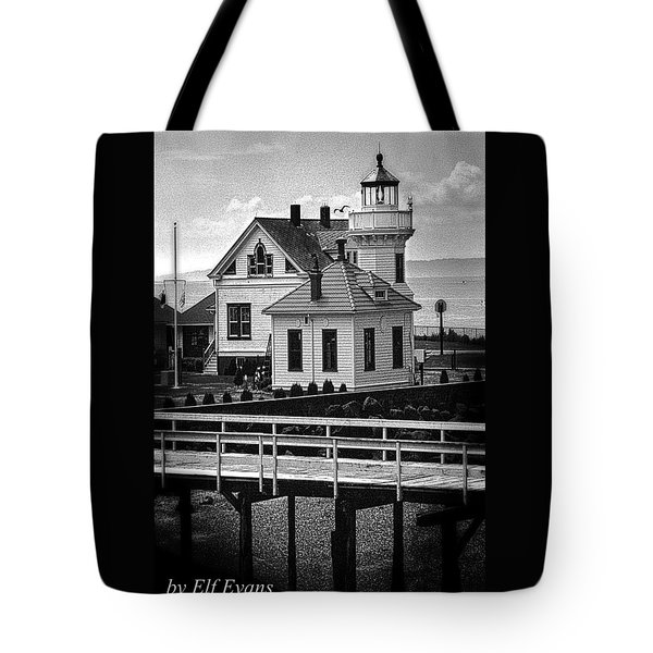 Tote Bag featuring the photograph Mukilteo Lighthouse by Elf Evans