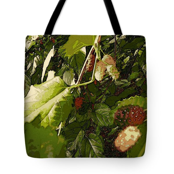 Mulberry Moment Tote Bag by Winsome Gunning