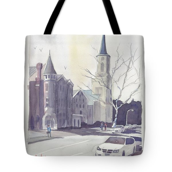 Mulberry Street Scene Tote Bag