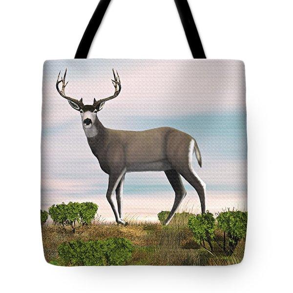 Mule Deer Buck Tote Bag