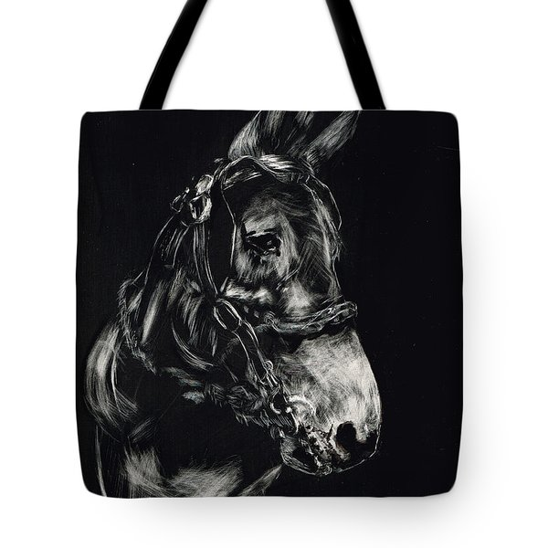 Mule Polly In Black And White Tote Bag