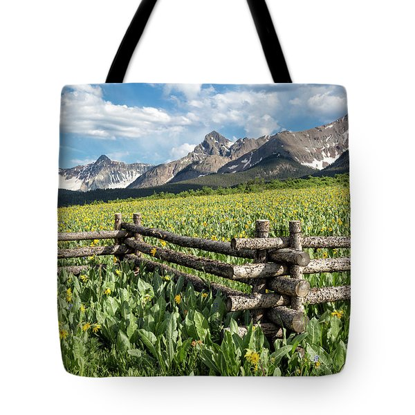 Mule's Ears And Mountains Tote Bag