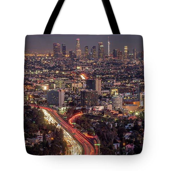 Mulholland Drive View #2 Tote Bag