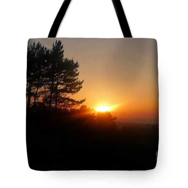Mulholland Sunset And Silhouette Tote Bag