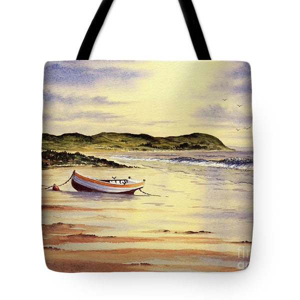 Tote Bag featuring the painting Mull Of Kintyre Scotland by Bill Holkham