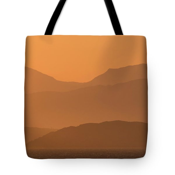 Tote Bag featuring the photograph Mull Sunrise by Karen Van Der Zijden