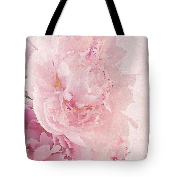 Artsy Pink Peonies Tote Bag by Sandra Foster