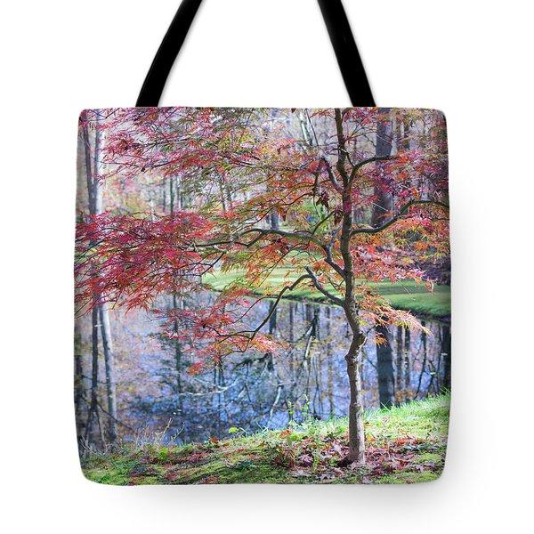 Multi Color Japanese Maple Tote Bag
