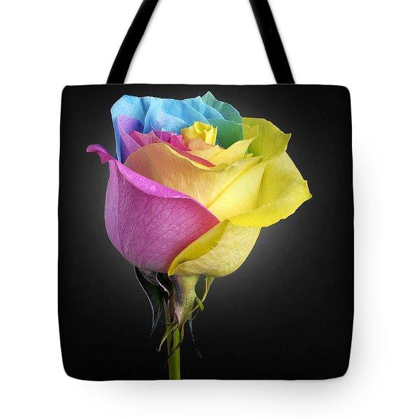 Rainbow Rose 1 Tote Bag