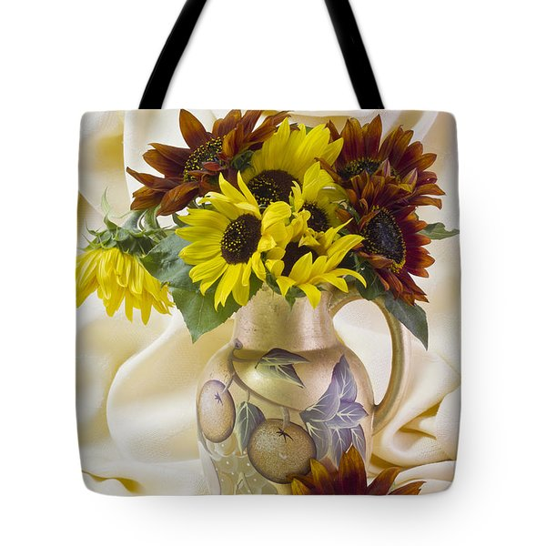 Multi Color Sunflowers Tote Bag by Sandra Foster