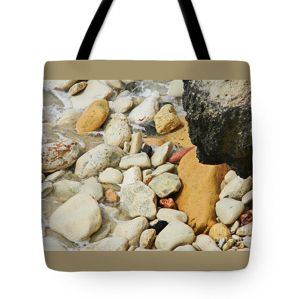 multi colored Beach rocks Tote Bag