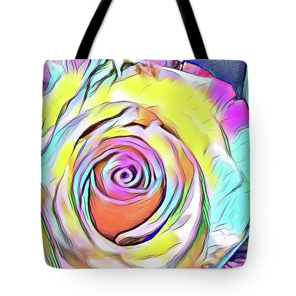 Multi-colored Rose Tote Bag