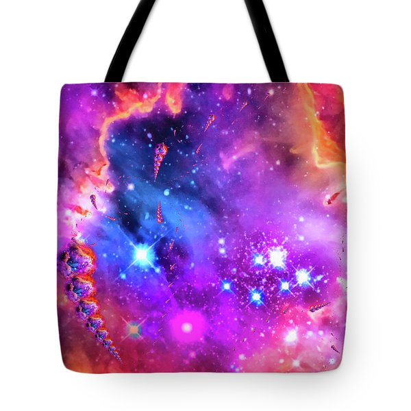 Multi Colored Space Chaos Tote Bag