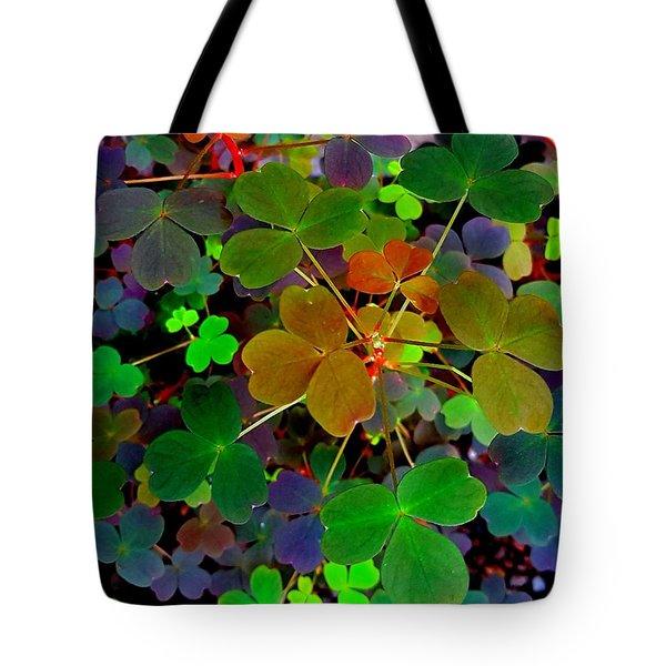 Multi-coloured Leaves Tote Bag