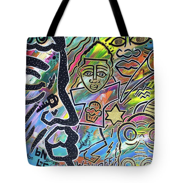 Multi-dimensional Beings Stepping Out The Body Walking Through The Cosmos Tote Bag