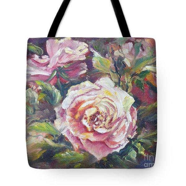 Multi-hue And Petal Rose. Tote Bag