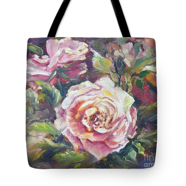 Multi-hue And Petal Rose. Tote Bag